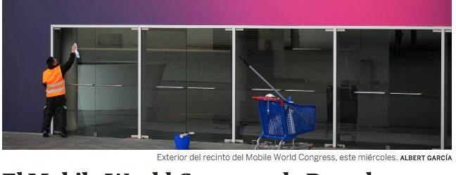 El Mobile World Congress de Barcelona, cancelado por la crisis del coronavirus